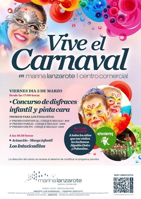 CARTEL CARNAVAL 2017 CC MARINA LANZAROTE V2