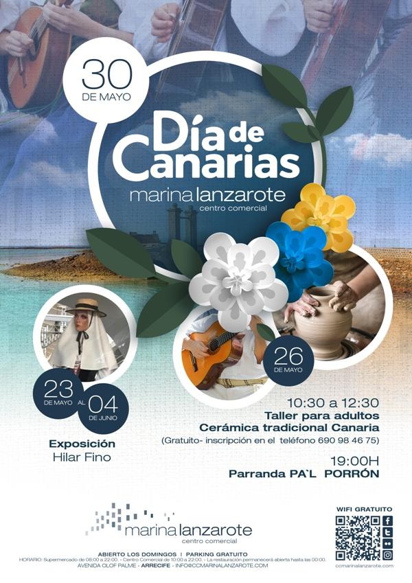 cartel día de canarias Marina Lanzarote red